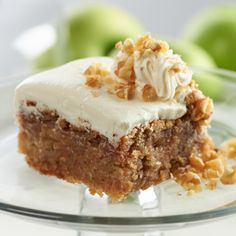 Harvest Apple Cake with Cream Cheese Frosting