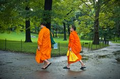 Monks walking in Central Park by Mariano A. Medda on 500px