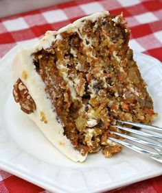 Carrot Cake With Cream Cheese Frosting! My favorite next to German Chocolate cake! Yummmmmmy!