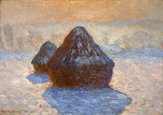 Grainstacks, White Frost Effect - Claude Monet