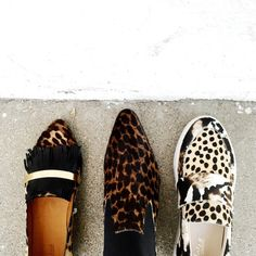 Lots of leopard going on at the Semi-Annual Clearance Sale! From left: @chloefashion loafer ($746.25) and boot ($976.50) and @loefflerrandall sneaker ($162.50). Shop them all online NOW!