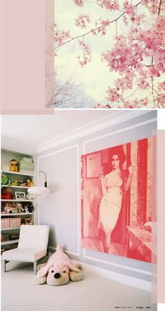 Top picture of pink cherry blossoms for nursery inspiration.