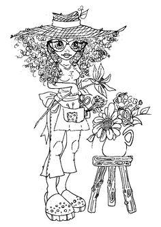 Мобильный LiveInternet РАСКРАСКИ ДЛЯ ДЕВОЧЕК. | Svetlana-sima - Дневник Svetlana-sima | Free Adult Coloring, Coloring Pages For Girls, Coloring Book Pages, Printable Coloring Pages, Digital Stamps Free, Creation Art, Doodle Coloring, Outline Drawings, Copics