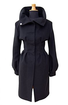 Chic. Love this coat.  Interesting but classic