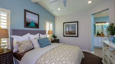 Beautiful master suite in thee Lily floor plan at Fireside at Norterra.