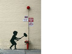 Banksy—Again, another genius Bansky work