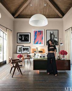 ▢ Architectural Digest: Kourtney Kardashian office.