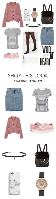"""""""Pink"""" by laura-si ❤ liked on Polyvore featuring Topshop, T By Alexander Wang, Moncler, Vans, Carbon & Hyde, Chloé, Harper & Blake and Olivia Burton"""