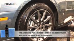 Introducing the all-new Hi Def Auto Detail System Tire Shine Applicator Pad & Handle. Achieve the perfect tire shine application every time with this special. Tire Shine, Car Detailing, Handle, Watch, Amp, Youtube, Products, Clock, Bracelet Watch