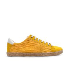 Yellow sneakers