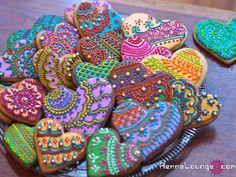mehndi sur des biscuits