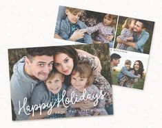 Premium Photoshop templates for photographers by StudioStrawberry Create Christmas Cards, Christmas Tree Cards, Christmas Photos, Holiday Cards, Merry Christmas, Greeting Card Template, Card Templates, Christmas Photo Card Template, Happy Holidays Greetings