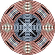 Mochilatechniek: materialen » Tassen haken: Mochilatechniek Gilet Crochet, C2c Crochet, Crochet Stitches, Tapestry Crochet Patterns, Crochet Dolls Free Patterns, Tapestry Bag, Native American Beading, Circle Pattern, Knitting Charts
