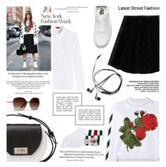 """""""Untitled #1764"""" by zayngirl1dlove ❤ liked on Polyvore featuring HUGO, Off-White, Fendi, Vans, Gucci and Joanna Maxham"""
