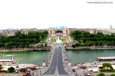 Views from the Eiffel Tower, Paris