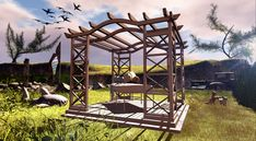 Sunny Side up Massage Table, Go Outside, Outdoor Furniture, Outdoor Decor, Sunnies, Pergola, Second Life, Cart, Landscapes