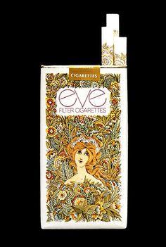 Eve Filter Cigarettes - Looks like the same illustrator for herbal essence.....