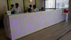 Zig-Zag reception desk w Perpignan, France. How do you like it?