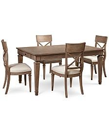 Winston 5 Piece Dining Set (Dining Table & 4 Side Chairs)