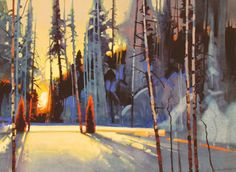 Late Light on Stump Trail             21 1/2 X 29 1/2  Stephen Quiller