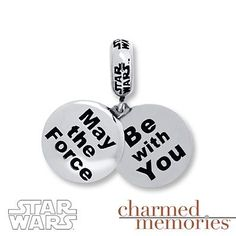 The force will be with you when you wear this Star Wars hidden message charm!