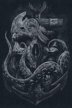 Octopus crâne par grabinkART