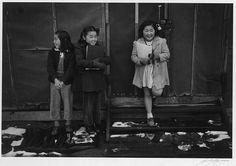 Going to school in Manzanar War Relocation Camp.