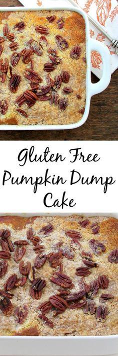 Gluten Free Pumpkin Dump Cake made from scratch! | Lou Lou Biscuit