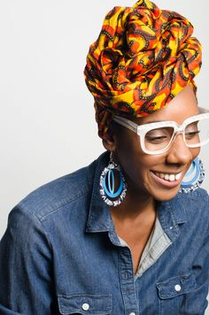 The right answer to a not-so-great hair day is an African print head wrap from A Leap of Style! The options for tying these bright, ankara wraps are nearly endless and season-less - they also make the