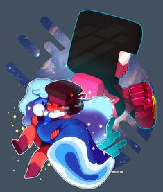and sapphire. Steven universeGarnet,ruby and sapphire. Steven Universe Tattoos, Sapphire Steven Universe, Chibi, Fanart, Universe Art, Save The Day, Geek Stuff, Gems, Crystals