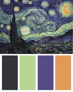 Color Palette inspired by Vincent van Gogh's The Starry Night