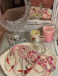 Aesthetic Room Decor, Pink Aesthetic, Dream Rooms, Dream Bedroom, Room Ideas Bedroom, Bedroom Decor, Cute Jewelry, Beaded Jewelry, Little Doll