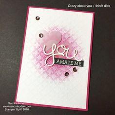 #crazyaboutyou #stampinup #su #pinkribboncard #Hellothinlits #sandrakorten #thenetherlands