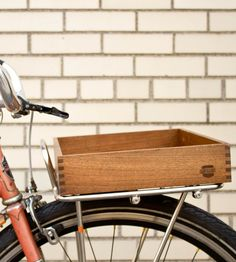 Wooden Porteur Bicycle Crate