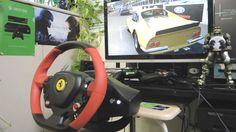[20] Xbox One Forza 6  Thrustmaster Ferrari 458 Spider Racing Wheel Game...