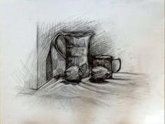 Still life/ Study No5 Pencil on Ingres Paper, 50x70cm