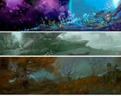 Artes de Cory Loftis para o game Wildstar | THECAB - The Concept Art Blog