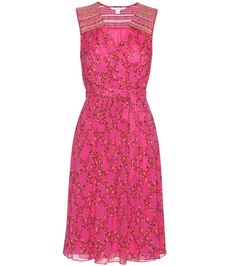 Bali pink printed silk wrap dress