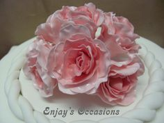 Sugarflowers topper-Pink roses