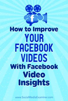Whether you're streaming live or recording videos, Facebook provides insights that can help you refine your future videos.In this article, you'lldiscover three ways to evaluate and improve your Facebook video performance.