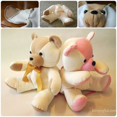 DIY Keepsake Bear from Old Baby Clothes