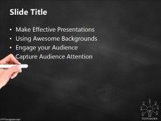 20401-teamwork-bulb-chalkhand-black-ppt-template-2 Ppt Template, Templates, Free Education, Teamwork, Key, Innovation, Black, Ideas, Creative