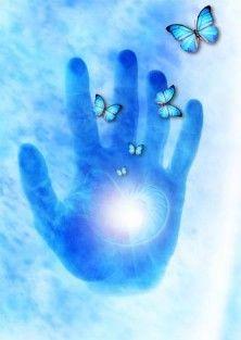 Reiki healing hand