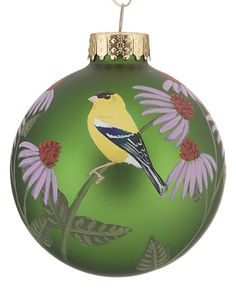 Hand-Painted American Goldfinch