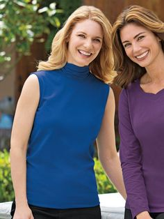 Women's Prima Cotton Sleeveless Ruched-Neck Tee is a layering necessity, and the superfine Prima Cotton is heavenly. Also in petites and plus size. Shop now.
