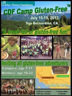 CDF Camp Gluten-Free Welcome