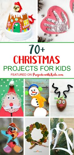 The ultimate list of 70 creative Christmas projects for kids! Fun Christmas crafts, unique DIY ornaments, beautiful kid-made Christmas cards and more. Project ideas that kids of all ages will love to create. Christmas Projects For Kids, Christmas Arts And Crafts, Preschool Christmas, Craft Projects For Kids, Christmas Cards To Make, Craft Activities For Kids, Homemade Christmas, Christmas Fun, Project Ideas