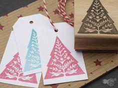Weihnachtsstempel - Stempel I Tannenbaum - ein Designerstück von STAMPelART bei DaWanda