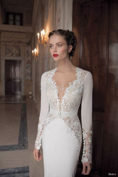 4ea53018f1 48 Elegant Long Sleeve Wedding Dresses for Winter Brides