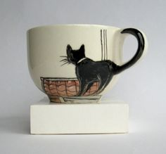 Amsterdam cats Big Handpainted Mug by damave on Etsy                                                                                                                                                                                 More
